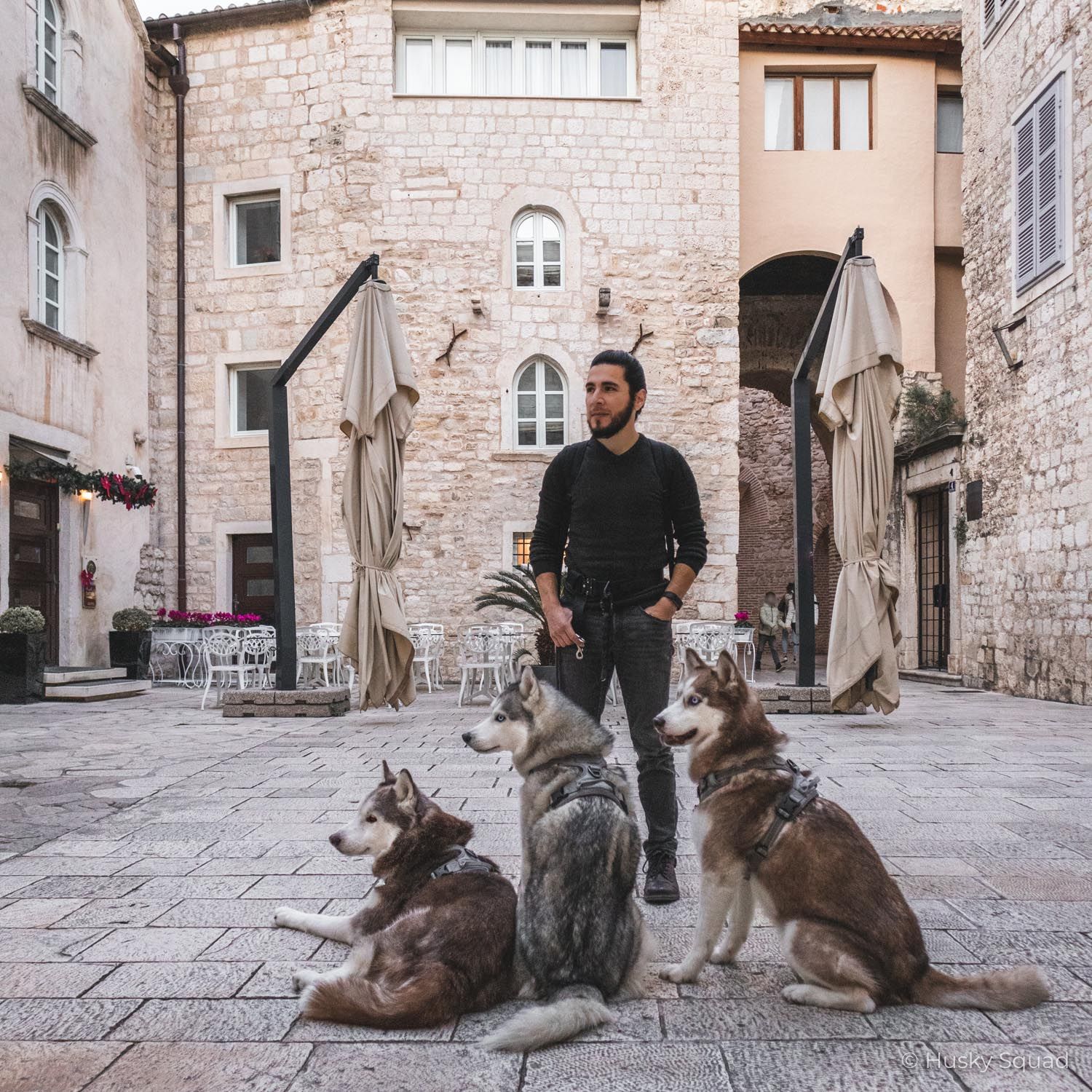Jc with Husky Squad in Split