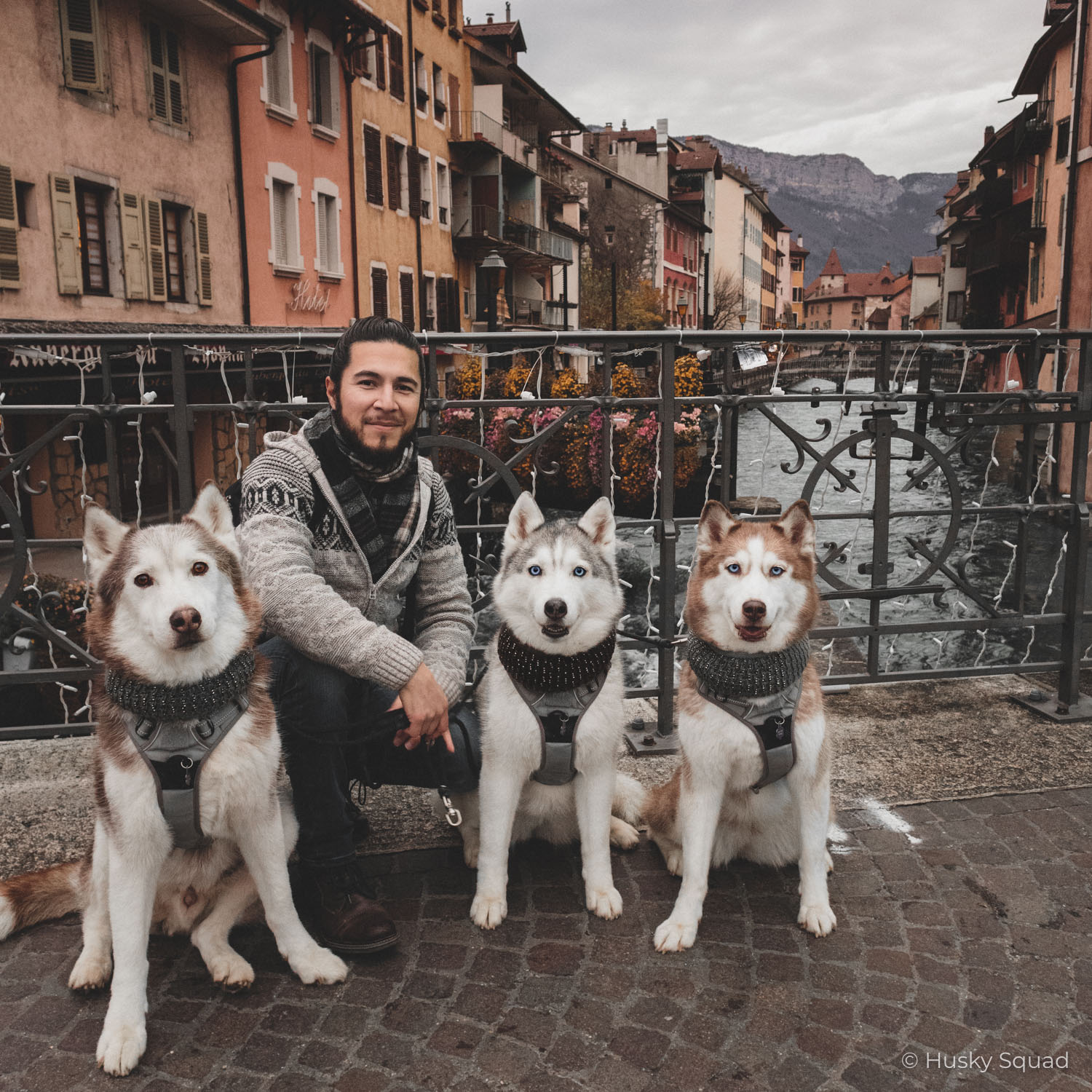Jc with Husky Squad in Annecy